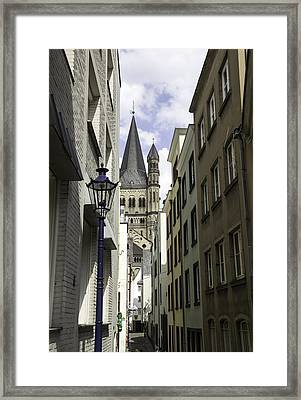 Alley In Cologne Germany Framed Print