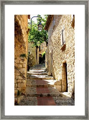 Alley In Eze, France Framed Print