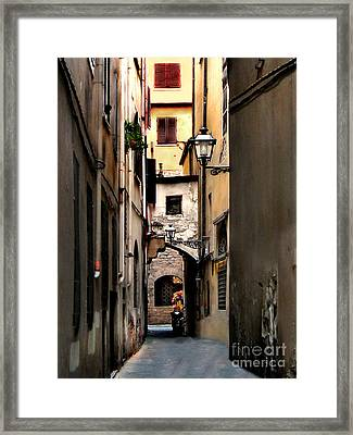 Alley In Florence 1 Framed Print