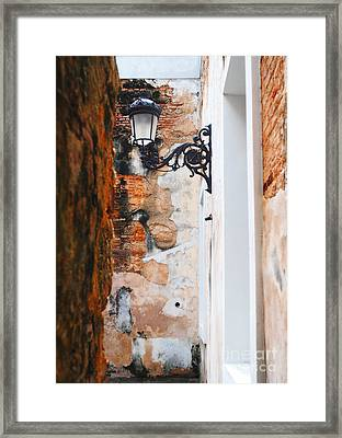 Alley Of Jail Framed Print