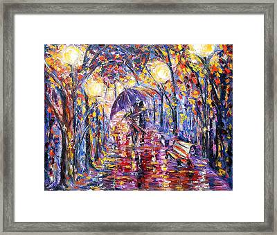 Alley Of Love Framed Print