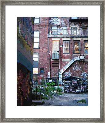 Framed Print featuring the photograph Alley by Paul Noble