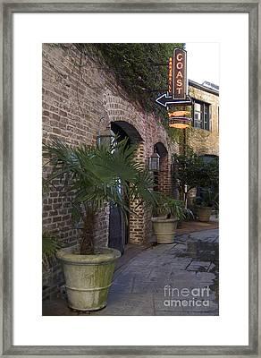 Alley Restaurant Framed Print
