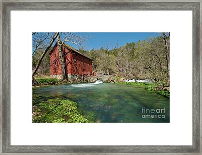 Alley Spring Mill Framed Print by Chris Brewington Photography LLC