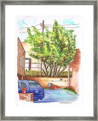 Alley With A Car In Olsen And Sunset Blvd - West Hollywood - California Framed Print by Carlos G Groppa