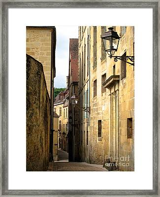 Alleys Of Sarlat Framed Print