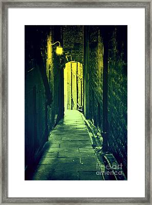 Framed Print featuring the photograph Alleyway by Craig B