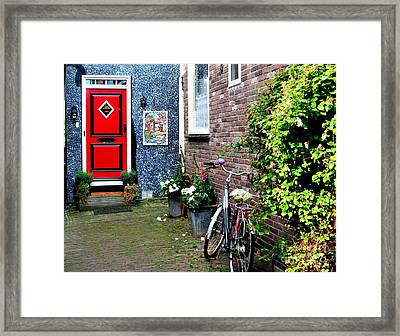 Framed Print featuring the photograph Alleyway In Dutch Village by Joe  Ng