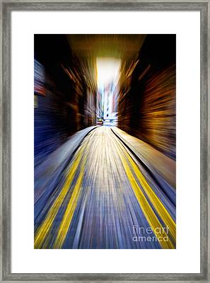 Alleyway With Motion Framed Print