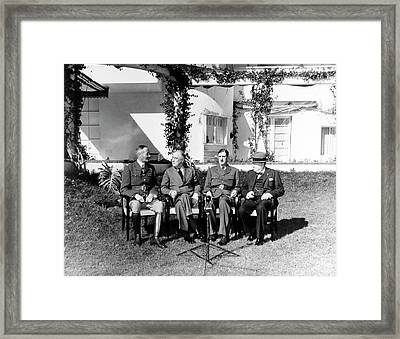 Allied Leaders Meet With French Framed Print by Stocktrek Images