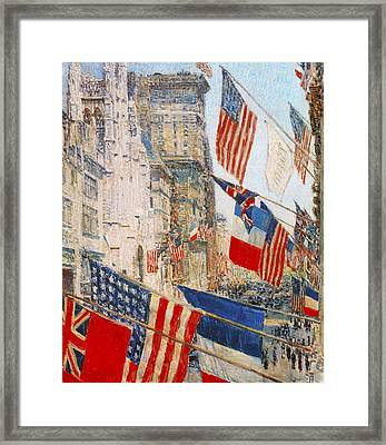 Allies Day May 1917 Framed Print by Childe Hassam