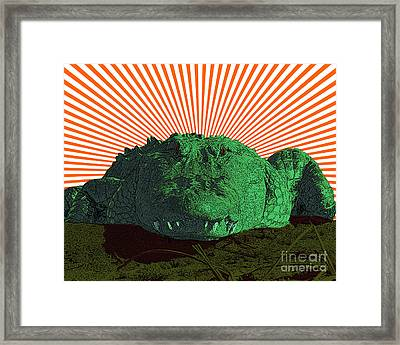 Alligator Art Framed Print by Al Powell Photography USA