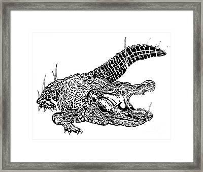 Alligator Ink Framed Print