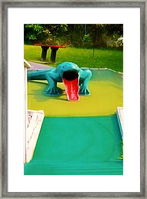 Alligator Framed Print by Lanjee Chee