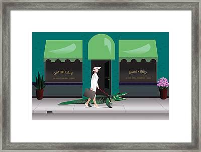 Alligator Walk Framed Print by Robert Korhonen