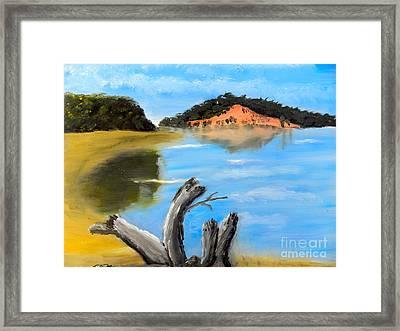 Allonah Beach Tasmania Framed Print by Pamela  Meredith