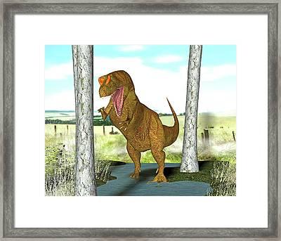 Allosaurus Dinosaur Framed Print
