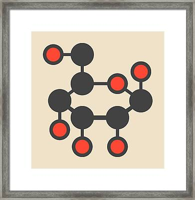 Allose Sugar Molecule Framed Print