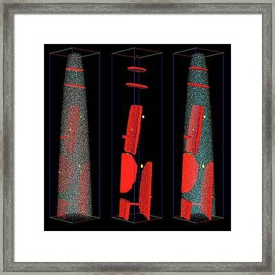 Alloy Precipitates Framed Print