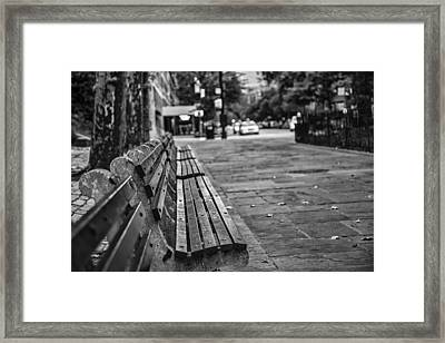 Alls Quiet In The City Framed Print
