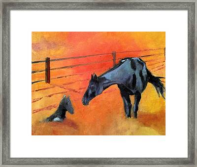 Alls Well Framed Print by Ken Parkes