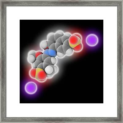 Allura Red Ac Food Dye Molecule Framed Print by Laguna Design