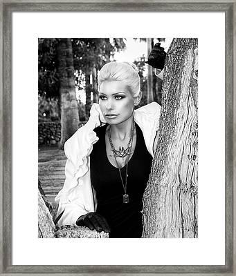 Allure Bw Palm Springs Framed Print by William Dey