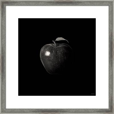Alluring Red In Monochrome Framed Print