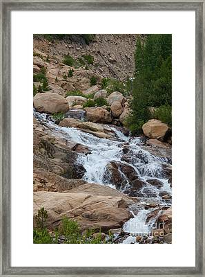 Alluvial Falls Framed Print by Kay Pickens