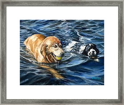 Ally And Smitty Framed Print
