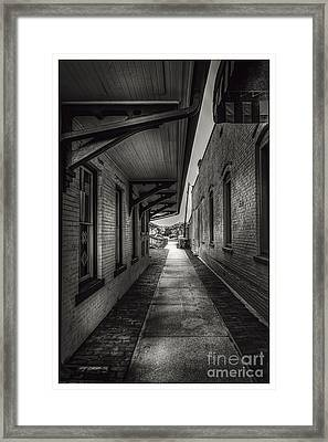 Alley To The Trains Framed Print