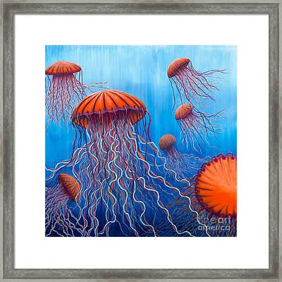 Framed Print featuring the painting Ally's Orange Jellies by Rebecca Parker