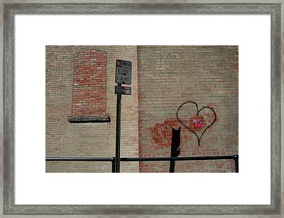 Allyway Theater Framed Print