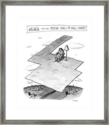 Alma And Her Flying Wall-to-wall Carpet Framed Print