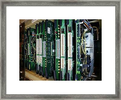 Alma Correlator Supercomputer Framed Print by European Southern Observatory