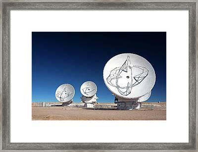 Alma Radio Astronomy Observatory Framed Print by Alma (eso/naoj/nrao), W. Garnier (alma