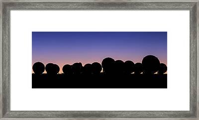 Alma Radio Telescopes At Sunset Framed Print by Babak Tafreshi