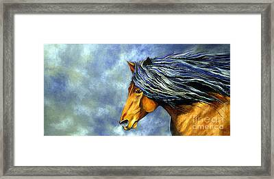 Framed Print featuring the painting Almanzors Glissando  by Alison Caltrider