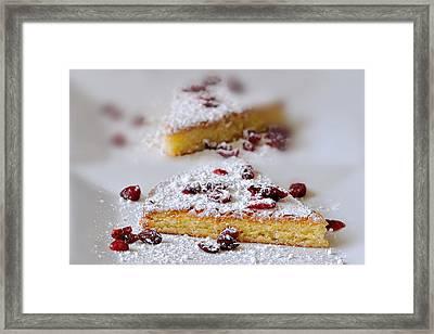 Almond Cake Framed Print by Carol Eade