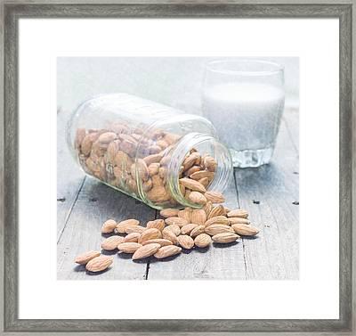 Almond Milk  Framed Print by Jennifer Goodrich