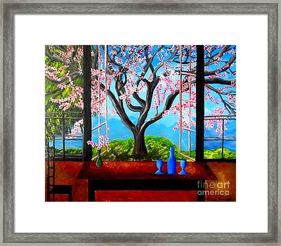 Almond With A View Framed Print