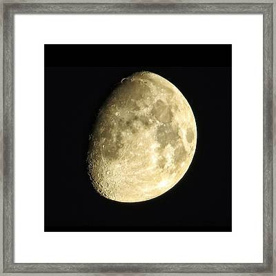 Framed Print featuring the photograph Almost Blue Moon by Nikki McInnes