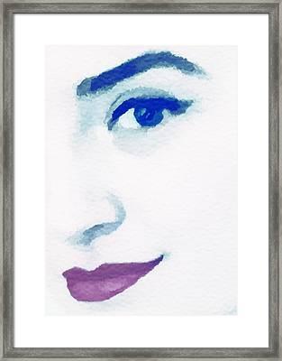 Almost Blue Framed Print by Susan Leggett