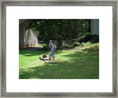 Almost Done Framed Print by Robert Rhoads