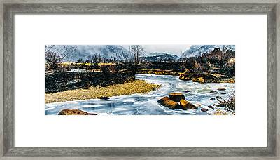 Almost Frozen Framed Print