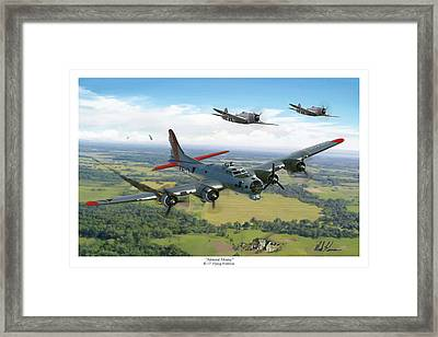 Almost Home  B-17 Flying Fortress Framed Print by Mark Karvon