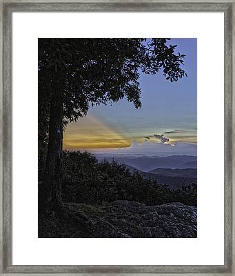 Almost Night Framed Print