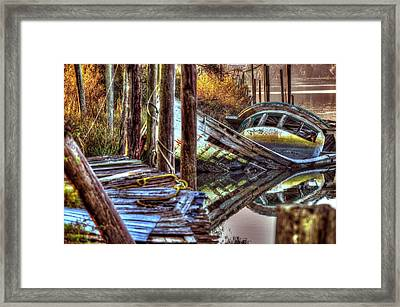 Almost Sunk On The Bon Secour Framed Print by Michael Thomas