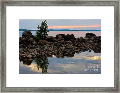 Almost Sunset At Awenda Beach Framed Print