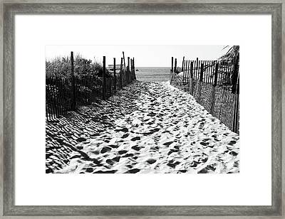 Almost There At Beach Haven Framed Print by John Rizzuto